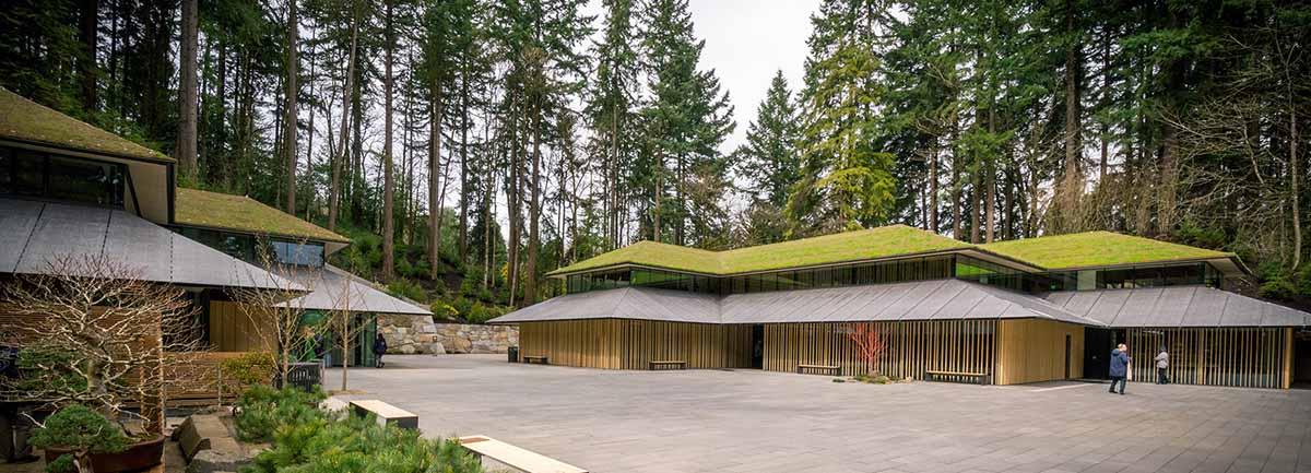 Pengembangan Taman Jepang Portland Dengan Atap Hijau Desa Budaya Ikons Id