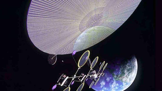 Ilustrasi pembangkit energi di angkasa (NASA)