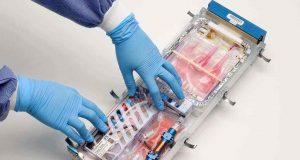 Sistem Biokultur ini akan memungkinkan para ahli biologi mempelajari tentang bagaimana ruang angkasa berdampak pada kesehatan manusia dengan mempelajari sel-sel yang tumbuh di lingkungan gayaberat mikro Stasiun Luar Angkasa Internasional. NASA / Pusat Penelitian Ames / Dominic Hart