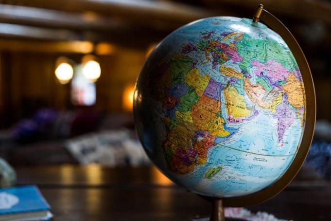peta globe bumi