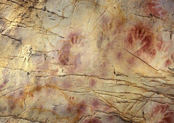 karya seni stensil gua